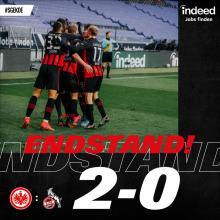 Eintracht Frankfurt gewinnt 2:0 gegen den 1. FC Köln