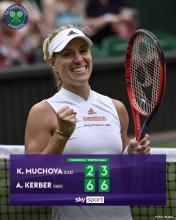 Angelique Kerber gewinnt in Wimbledon gegen Karolina Muchova