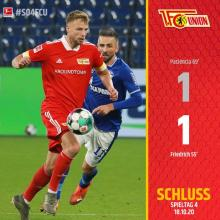 Union Berlin spielt 1:1 auf Schalke